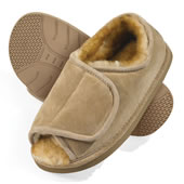 The Gentlemen's Adjustable Sheepskin Slippers.