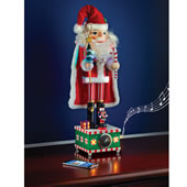 2 Ft Tabletop Bluetooth Santa Nutcracker