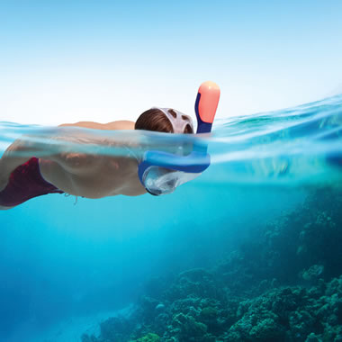 The Full Face Easy Breathing Snorkel Mask.