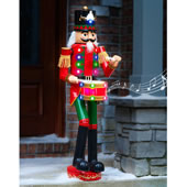 4 Ft Lighted Musicalmarching Nutcracker
