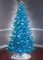 The 7 1/2 Foot Teal Tinsel Tree.