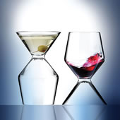 Martini Wine Glass Set