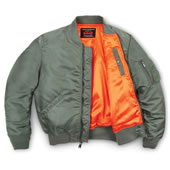 Classic Ma 1 Bomber Jacket Green Large