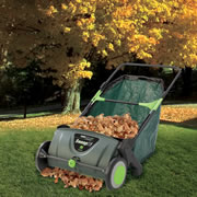 The Leaf Collecting Lawn Sweeper.