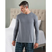 Men Ultra Soft Luxyry Nightshirt Gry Lrg