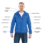 Perfect Travel Jacket Blue Large