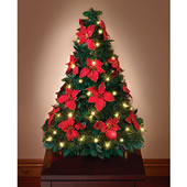 Pop Up Poinsettia Tabletop Tree