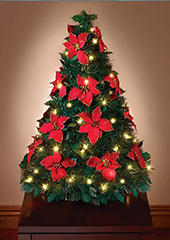 The Pop Up Poinsettia Tabletop Tree.