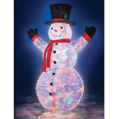 The Illuminated 6 Foot Pop Up Snowman.