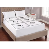 Only 6 Zone Heated Mattress Pad King Whi