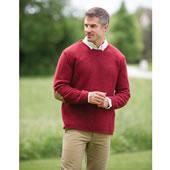 Florentin Hand Spun Wool Sweater Nav Lrg