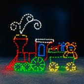 5Ft Animated Locomotive Train Set