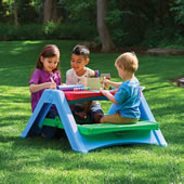 Space Saving Childrens Picnic Table