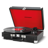 Portable Turntable Stereo Black