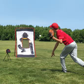 The Speed Sensing Pitching Trainer.