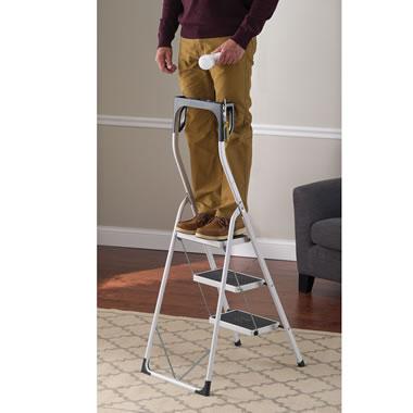 The Handhold Safety Ladder Hammacher Schlemmer