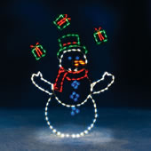 The 5 Foot Animated Juggling Snowman.