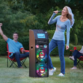The Portable Wireless Karaoke Machine.