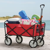 Sandless Foldable Beach Wagon Blue