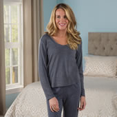 Sleep Enhancing Sleepwear Top Lady Gry L