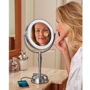 Phone Charging Cordless Vanity Mirror.
