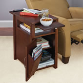 Readers Recliner Side Table Brown