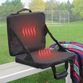 Rechrgble Heat Mssging Stadium Seat Blk