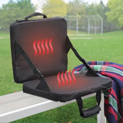 The Rechargeable Heated Massaging Stadium Seat.