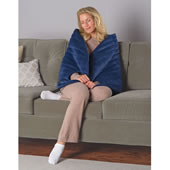 Massaging Heated Cuddle Wrap Navy