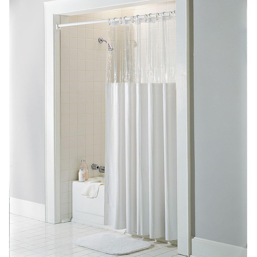 The AntiMicrobial Shower Curtain Hammacher Schlemmer - Shower curtain