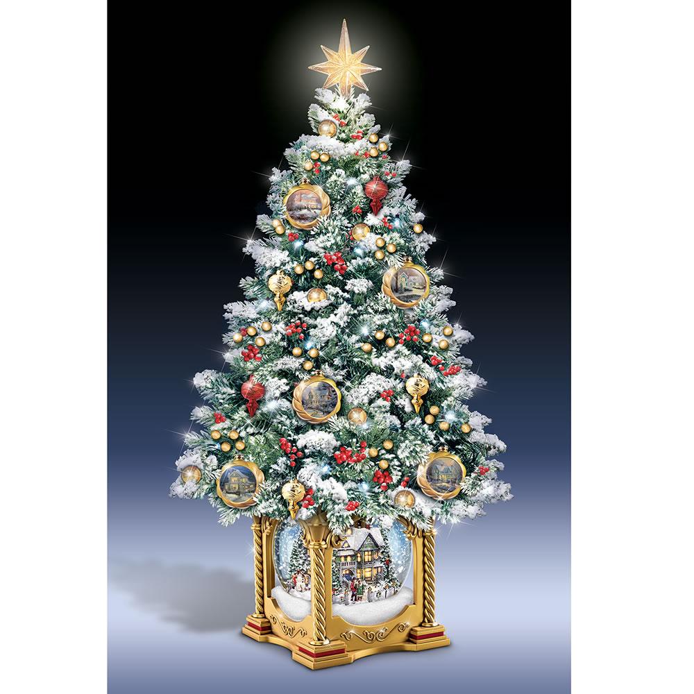 Kinkade christmas ornaments - The Thomas Kinkade Snow Globe Tabletop Tree