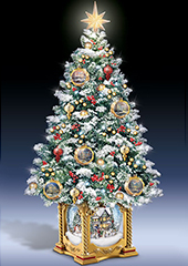 The Thomas Kinkade Snow Globe Tabletop Tree.