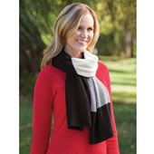 Washable Cashmere Blanket Scarf Black