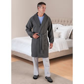 Mens Sweatshirt Robe Gray Large