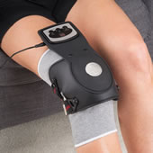 Heated Massaging Knee Pain Reliever Blk