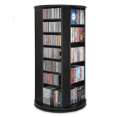 Space Saving Cd Dvd Tower Black