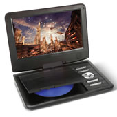6 Hour Portable Dvd Player Black