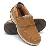 Adjustable Neuropathy Deck Shoes Tan 10