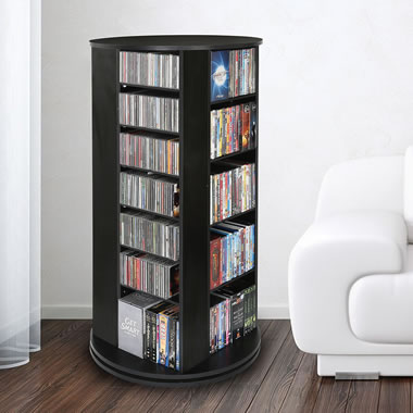 The Space Saving Rotating CD/DVD Tower