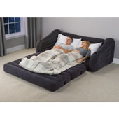 Inflatable Convertible Couch To Bed Blu