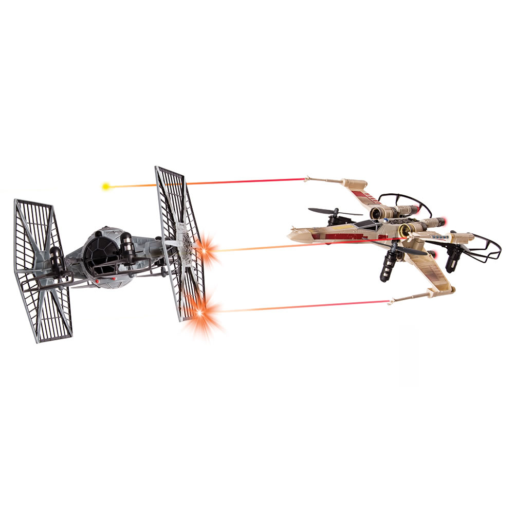 The Battling X-Wing And Tie Fighter Drones 2