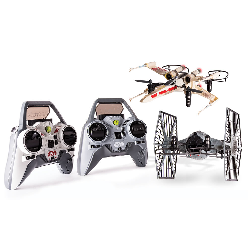 The Battling X-Wing And Tie Fighter Drones 3