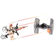 The Battling X-Wing And Tie Fighter Drones.