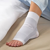 The Nighttime Plantar Fasciitis Relieving Foot Sleeve.