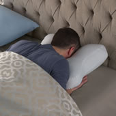 Stomach Sleeper Pillow White