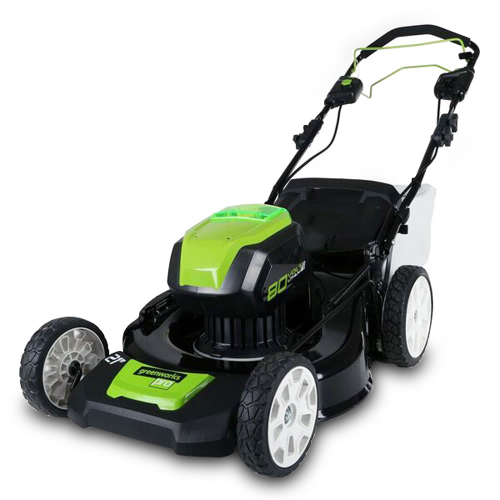 The self propelled cordless electric mower hammacher for Lawn mower electric motor