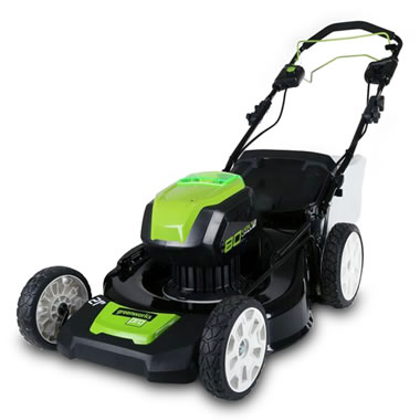 The Self Propelled Cordless Electric Mower.