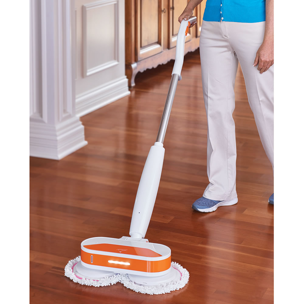 The cordless power mop and floor polisher hammacher for Floor polisher