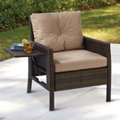 Side Table Outdoor Wicker Armchair Bro