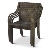 Stackable Outdoor Wicker Deck Chairs